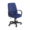 "Safco Poise Collection Executive High-Back Chair - Polyester Blue Seat - Black Frame - 5-star Base - 21"" Seat Width x 20"" Seat Depth - 27"" Width x 27"" Depth x 46"" Height"