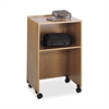 "Projector Stand - 33.8"" Height x 21.3"" Width x 17.5"" Depth - Laminate - Wood - Medium Oak"