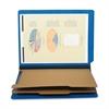 "SJ Paper Six Section Classification Folder - Letter - 8 1/2"" x 11"" Sheet Size - 2 1/4"" Expansion - 2"" Fastener Capacity for Folder - 25 pt. Folder Thickness - Pressboard - Cobalt Blue - Recycled - 1 E"