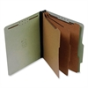 "SJ Paper Classification Folder - Letter - 8 1/2"" x 11"" Sheet Size - 3"" Expansion - 8 Fastener(s) - 2"" Fastener Capacity for Folder - 3 Divider(s) - 25 pt. Folder Thickness - Pressboard - Green - Recyc"