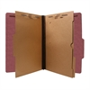 "SJ Paper Pocket Dividers Classification Folders - Legal - 8 1/2"" x 14"" Sheet Size - 2 1/2"" Expansion - 6 Fastener(s) - 2"" Fastener Capacity for Folder, 2"" Fastener Capacity, 1"" Fastener Capacity - 2 P"
