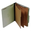 "SJ Paper 3-Divider Classification Folders - Legal - 8 1/2"" x 14"" Sheet Size - 3"" Expansion - 8 Fastener(s) - 2"" Fastener Capacity for Folder - 3 Divider(s) - 25 pt. Folder Thickness - Pressboard - Gre"