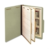 "SJ Paper Classification Folder - Legal - 8 1/2"" x 14"" Sheet Size - 2 1/4"" Expansion - 6 Fastener(s) - 2"" Fastener Capacity for Folder - 2 Divider(s) - 25 pt. Folder Thickness - Pressboard - Green - Re"