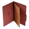 "SJ Paper Classification Folder - Legal - 8 1/2"" x 14"" Sheet Size - 1 1/2"" Expansion - 4 Fastener(s) - 2"" Fastener Capacity for Folder - 1 Divider(s) - 25 pt. Folder Thickness - Pressboard - Red - Recy"