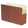 "SJ Paper Expanding File Pocket - Legal - 8 1/2"" x 14"" Sheet Size - 5 1/4"" Expansion - 11 pt. Folder Thickness - Redrope, Manila - Recycled - 25 / Box"