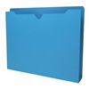 "Colored File Jacket - Letter - 8 1/2"" x 11"" Sheet Size - 400 Sheet Capacity - 2"" Expansion - 11 pt. Folder Thickness - Blue - Recycled - 50 / Box"