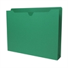 "Sparco Colored File Jacket - Letter - 8 1/2"" x 11"" Sheet Size - 400 Sheet Capacity - 2"" Expansion - 11 pt. Folder Thickness - Green - Recycled - 50 / Box"
