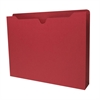 "Colored File Jacket - Letter - 8 1/2"" x 11"" Sheet Size - 400 Sheet Capacity - 2"" Expansion - 11 pt. Folder Thickness - Red - Recycled - 50 / Box"