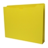 "Sparco Colored File Jacket - Letter - 8 1/2"" x 11"" Sheet Size - 400 Sheet Capacity - 2"" Expansion - 11 pt. Folder Thickness - Yellow - Recycled - 50 / Box"
