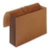"Tyvek Accordion Wallet - Letter - 8 1/2"" x 11"" Sheet Size - 5 1/4"" Expansion - Brown - Recycled - 1 Each"