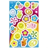 Trend Rockin' Retro Foil Bright Stickers - Assorted - Self-adhesive - Acid-free, Non-toxic, Photo-safe - Multicolor, Assorted - Foil - 34 / Pack