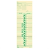 "Payroll Calculation Time Card - 10.50"" x 3.50"" Sheet Size - Manila Sheet(s) - Green Print Color - 100 / Pack"