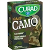 "Curad Green Camp Camo Sterile Bandages - 0.75"" x 3"" - 25/Box - Camo Green - Fabric"
