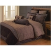 Opulent Paisley 10 PC King Comforter Set, Brown