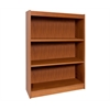 "Essentials Laminate Bookcase, 48""H Natural Maple Laminate, 1"" thick adj steel reinforced shelves"