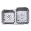 NS6040-R-16 - 32 Inch 60/40 Double bowl Undermount Stainless Steel Kitchen Sink, 16 Gauge