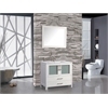 """MTD Vanities Argentina 30"""" Single Sink Bathroom Vanity Set, White"""