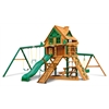Frontier Treehouse Swing Set w/ Fort Add-On & Timber Shield
