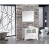 "MTD Vanities Malta 36"" Single Sink Bathroom Vanity Set, White"