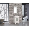 "MTD Vanities Malta 18"" Single Sink Bathroom Vanity Set, White"