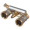 Levenhuk Broadway 325N Opera Glasses (silver lorgnette with LED light)