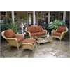 Tortuga Outdoor Lexington 6-Pc Deep Seating Set w/ Loveseat - Mojave -   Rave Brick