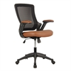 Mid-Back Mesh Task Office Chair with Height Adjustable Arms. Color: Brown