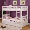 Twin over Twin Bunk Bed with 3 Underbed Drawers and Two Mattresses in White