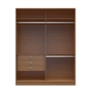 Manhattan Comfort  Chelsea 2.0 - 70.07 inch Wide Double Basic Wardrobe with 3 Drawers in Maple Cream