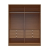 Manhattan Comfort  Chelsea 2.0 -  70.07 inch Wide He/ She Wardrobe with 6 Drawers in Maple Cream
