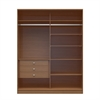 Manhattan Comfort  Chelsea 2.0 - 70.07 inch Wide Full Wardrobe with 3 Drawers in Maple Cream