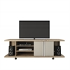 Manhattan Comfort 5- Shelf Carnegie TV Stand in Nature and Nude/ Pro Touch