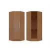 Manhattan Comfort  Chelsea 36.22 inch Wide  Corner Closet with  1 Door in Maple Cream