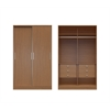 Chelsea 1.0 - 54.33 inch Wide He/ She Wardrobe with 6 Drawers and 2 Sliding Doors in Maple Cream