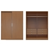 Manhattan Comfort  Chelsea 2.0 -  70.07 inch Wide  He/ She Wardrobe with 6 Drawers and  2 Sliding Doors  in Maple Cream