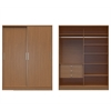 Manhattan Comfort  Chelsea 2.0 - 70.07 inch Wide Full Wardrobe with 3 Drawers and  2 Sliding Doors  in Maple Cream