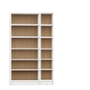 Manhattan Comfort Greenwich 2- Piece Bookcase 12- Wide and Narrow Shelves in White Matte and Maple Cream