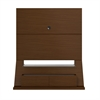 Intrepid Freestanding Theater Entertainment Center in Nut Brown