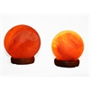 "Accentuations by Manhattan Comfort 5"" and 7"" Sphere Shaped Himalayan Salt Lamp 1.5 and 1.7 with dimmer. Set of 2."