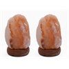 "6"" Natural Shaped Himalayan Salt Lamp 1.6. Set of 2. with dimmer"
