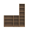 Greenwich 3- Piece Bookcase 12- Wide and Narrow Shelves in Maple Cream