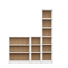 Greenwich 3- Piece Bookcase 12- Wide and Narrow Shelves in White Matte and Maple Cream