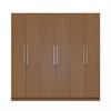 "Eldridge 2.0 - 91"" 3 Sectional Wardrobe with 4 Drawers and 6 Doors in Maple Cream"