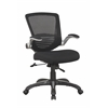 Manhattan Comfort Ergonomic Walden Office Chair in Black Mesh