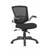 Manhattan Comfort Ergonomic Walden Office Chair in Black Mesh - Set of 2