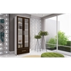 Serra 1.0- 5- Shelf Bookcase in White and Tobacco