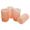 Himalayan Salt Shot Glasses with Plastic Inserts- Set of 4