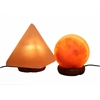 "Accentuations by Manhattan Comfort 5"" Sphere Shaped Himalayan Salt Lamp 1.5 and 9"" Pyramid Lamp with Dimmer"