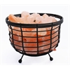 "Accentuations by Manhattan Comfort 8"" Himalayan Wired Basket Lamp 1.0 with Natural Rocks  with dimmer"