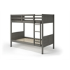 Manhattan Comfort Empire Solid Pine Wood Twin Size Bunk Bed in Grey